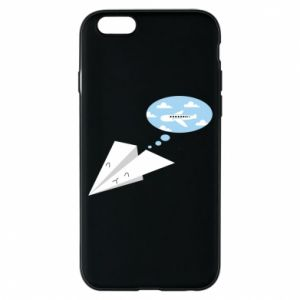 Phone case for iPhone 6/6S Paper plane dreams of flying - PrintSalon