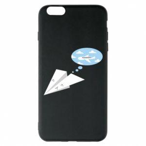 Phone case for iPhone 6 Plus/6S Plus Paper plane dreams of flying - PrintSalon