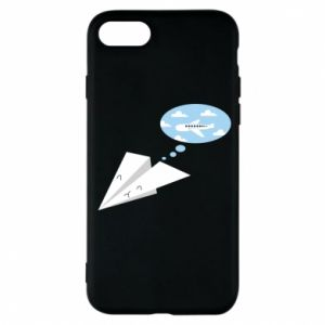 Phone case for iPhone 7 Paper plane dreams of flying - PrintSalon