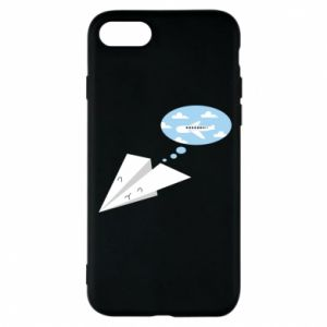 Phone case for iPhone 8 Paper plane dreams of flying - PrintSalon