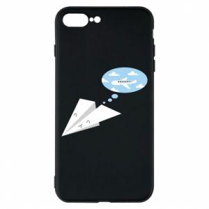 Phone case for iPhone 8 Plus Paper plane dreams of flying - PrintSalon