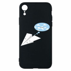 Phone case for iPhone XR Paper plane dreams of flying - PrintSalon