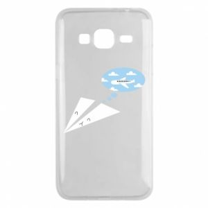Phone case for Samsung J3 2016 Paper plane dreams of flying - PrintSalon