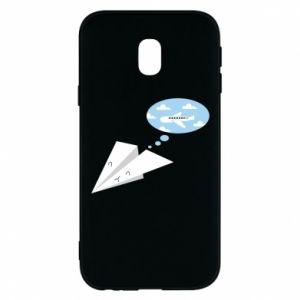 Phone case for Samsung J3 2017 Paper plane dreams of flying - PrintSalon