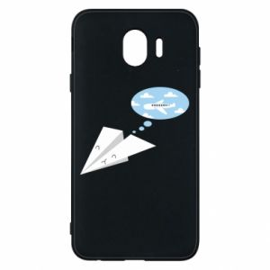 Phone case for Samsung J4 Paper plane dreams of flying - PrintSalon