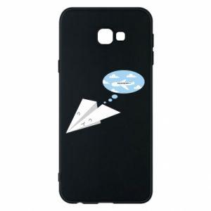 Phone case for Samsung J4 Plus 2018 Paper plane dreams of flying - PrintSalon