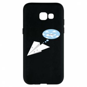 Phone case for Samsung A5 2017 Paper plane dreams of flying - PrintSalon