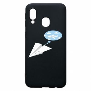 Phone case for Samsung A40 Paper plane dreams of flying - PrintSalon