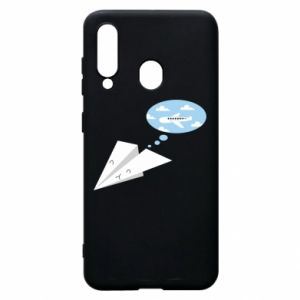 Phone case for Samsung A60 Paper plane dreams of flying - PrintSalon