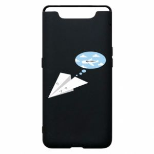 Phone case for Samsung A80 Paper plane dreams of flying - PrintSalon