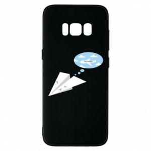 Phone case for Samsung S8 Paper plane dreams of flying - PrintSalon