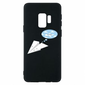 Phone case for Samsung S9 Paper plane dreams of flying - PrintSalon