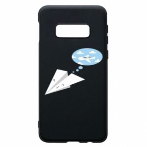 Phone case for Samsung S10e Paper plane dreams of flying - PrintSalon