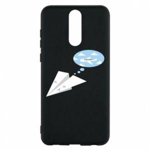 Phone case for Huawei Mate 10 Lite Paper plane dreams of flying - PrintSalon