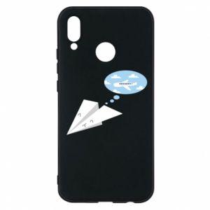 Phone case for Huawei P20 Lite Paper plane dreams of flying - PrintSalon