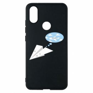 Phone case for Xiaomi Mi A2 Paper plane dreams of flying - PrintSalon