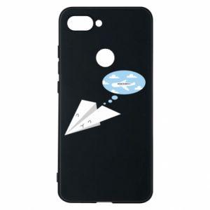 Phone case for Xiaomi Mi8 Lite Paper plane dreams of flying - PrintSalon