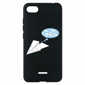 Phone case for Xiaomi Redmi 6A Paper plane dreams of flying - PrintSalon