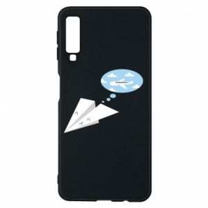 Phone case for Samsung A7 2018 Paper plane dreams of flying - PrintSalon