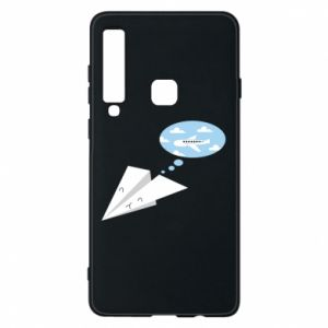 Phone case for Samsung A9 2018 Paper plane dreams of flying - PrintSalon