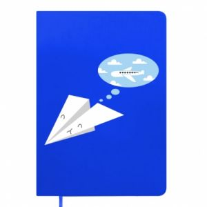 Notepad Paper plane dreams of flying