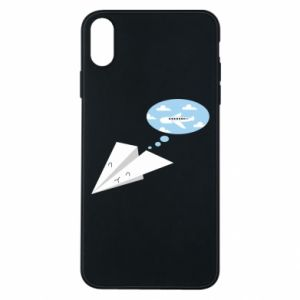 Phone case for iPhone Xs Max Paper plane dreams of flying - PrintSalon