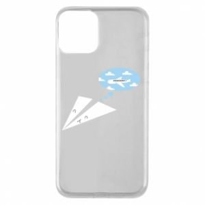 Phone case for iPhone 11 Paper plane dreams of flying - PrintSalon