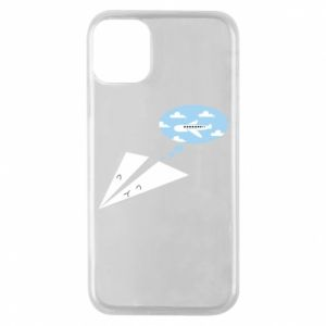 Phone case for iPhone 11 Pro Paper plane dreams of flying - PrintSalon