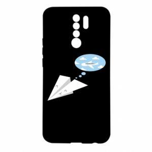 Etui na Xiaomi Redmi 9 Paper plane dreams of flying
