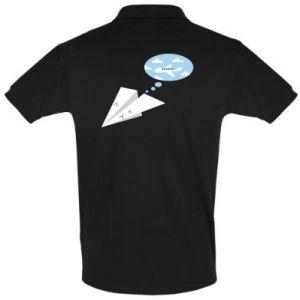Men's Polo shirt Paper plane dreams of flying - PrintSalon