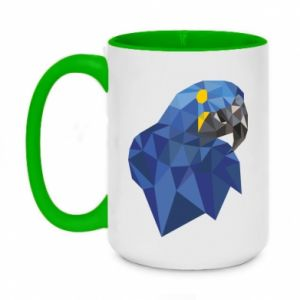 Kubek dwukolorowy 450ml Parrot graphics