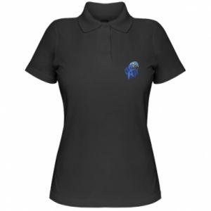 Koszulka polo damska Parrot graphics