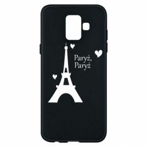 Etui na Samsung A6 2018 Paryż, Paryż
