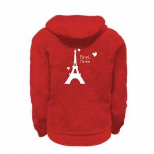 Kid's zipped hoodie % print% Paris, Paris