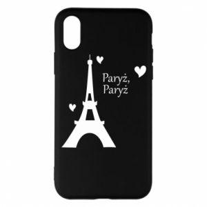 Etui na iPhone X/Xs Paryż, Paryż