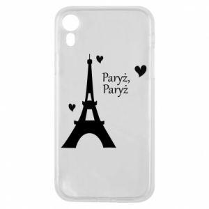 Etui na iPhone XR Paryż, Paryż