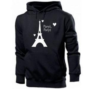 Męska bluza z kapturem Paryż, Paryż
