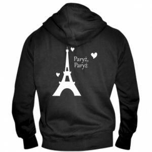Męska bluza z kapturem na zamek Paryż, Paryż