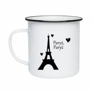 Enameled mug Paris, Paris