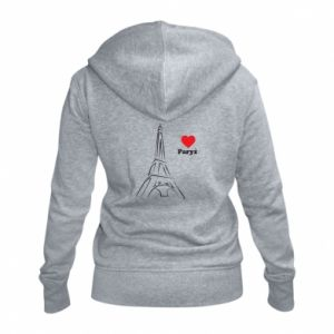 Women's zip up hoodies Paris I love you