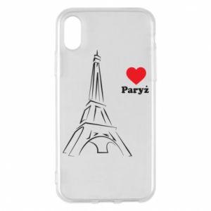Etui na iPhone X/Xs Paryżu, kocham cię - PrintSalon