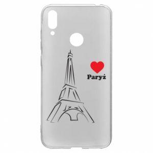 Etui na Huawei Y7 2019 Paryżu, kocham cię