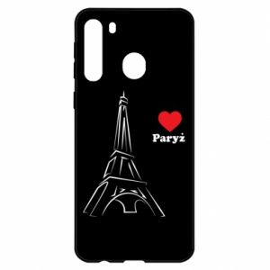 Etui na Samsung A21 Paryżu, kocham cię