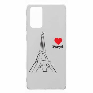 Etui na Samsung Note 20 Paryżu, kocham cię