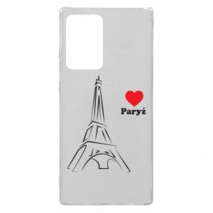 Etui na Samsung Note 20 Ultra Paryżu, kocham cię