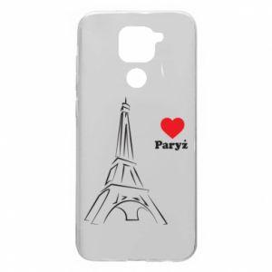 Etui na Xiaomi Redmi Note 9/Redmi 10X Paryżu, kocham cię