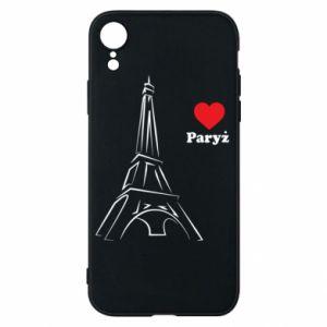Etui na iPhone XR Paryżu, kocham cię - PrintSalon