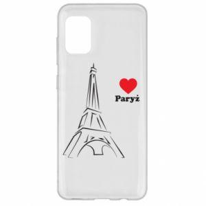 Etui na Samsung A31 Paryżu, kocham cię