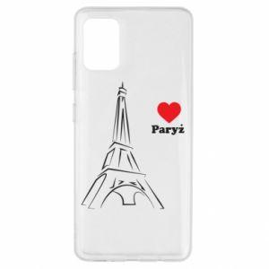 Etui na Samsung A51 Paryżu, kocham cię
