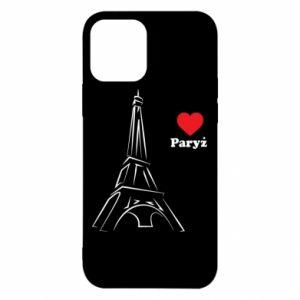 Etui na iPhone 12/12 Pro Paryżu, kocham cię